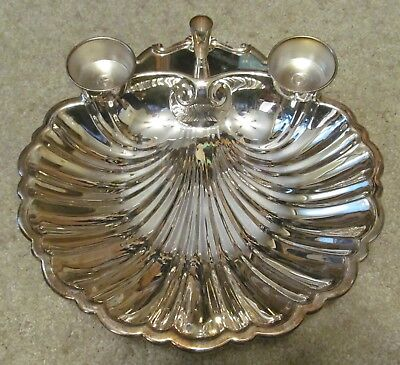 "The Sheffield Silver Co.-USA-Dish..Crab.. Shrimp Cocktail..LARGE  15"" X 14"" X 4"""