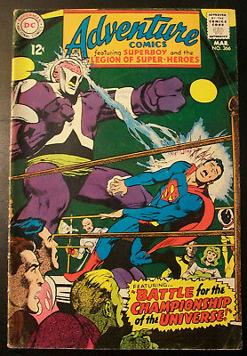 Adventure Comics 366, Superboy and Legion, Neal Adams cover