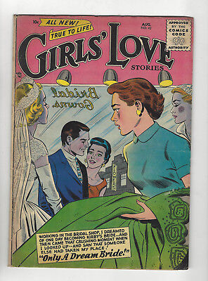 Girls Love Stories #42 August 1956 nice flat early Silver Age 10 cent romance