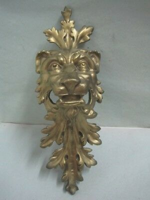 Antique big wall plaque Plate with mythical bronze figure a lion nº 282 EB