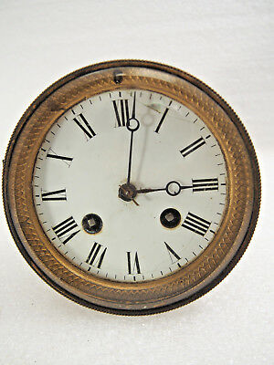 "Antique French Japy Freres mantel clock movement fits a 4 1/4"" opening"