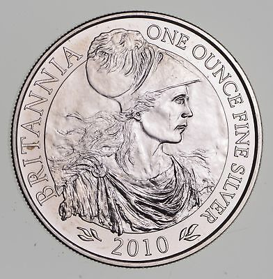 2010 Great Britain 2 Pounds 1 Oz Silver Coin .999 Fine - Rare *058