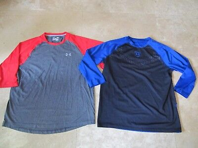 Lot, 2 mens size L,large Under Armour 3/4 sleeved tops