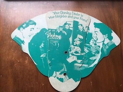 Stanley Home Products Dealer Give Away Advertising Fan 1954 Westfield MA
