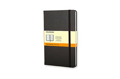 Moleskine Classic Notebook Large Ruled Black Hard Cover (5x8.25) New, in wrap