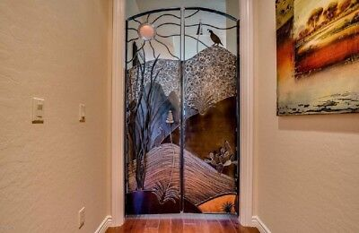 Desert Inspired Art Deco HandForged Steel Iron Doors By Michael Jones Designs