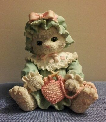 """SUPER GIFT: ENESCO CALICO KITTENS """"Friendship Mends The Heart"""" with Original Box"""