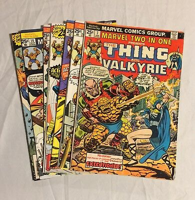 Collection Of Old THING Comic Books 1970's Marvel Two In One Bronze Age VF Lot