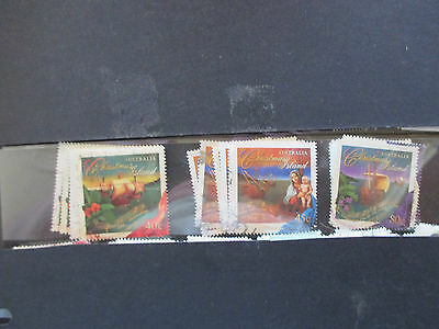 No-9---2002   CHRISTMAS   ISLAND   ISSUED     STAMPS --F/S     3    USED