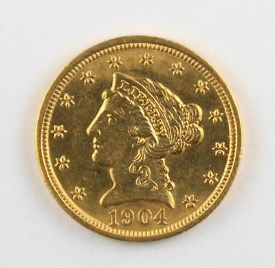 1904 $2.5 Gold Liberty Head Quarter Eagle