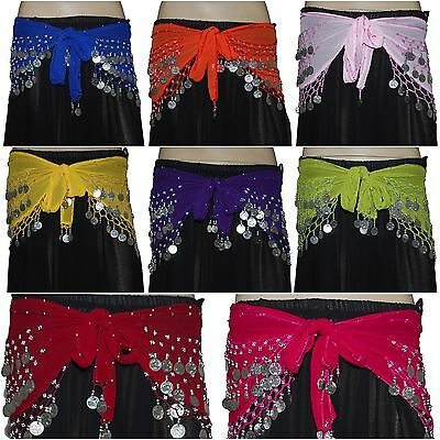 Lot of 12 Different Colours Belly Dance Hip Scarf Buy Online