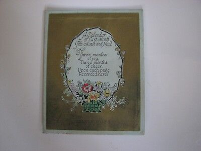 VINTAGE SYLVIA ROSS TABLE POEM CARD STANDING BASKET FLOWERS GOLD free shipping