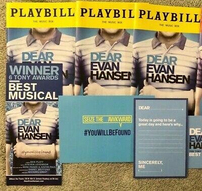 Dear Evan Hansen Package All the playbills! OBC with Ben Platt, Noah, Taylor