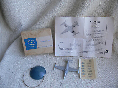 Wiking-Flugzeug Aircraft-Model 1:200: LOCKHEED T-33 A +Box+Decals+Stand rare