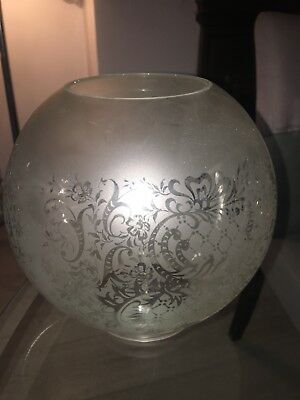 antique etched frosted oil lamp shade light shade