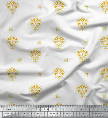 Soimoi Fabric Artistic Leaf /& Floral Print Fabric by Meter-FL-783L