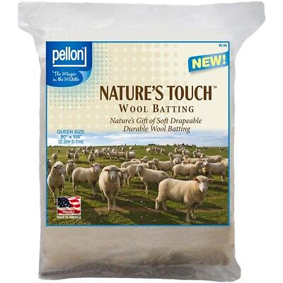 "Pellon Wool Batting-queen Size 96""x108"" Fob: Mi"