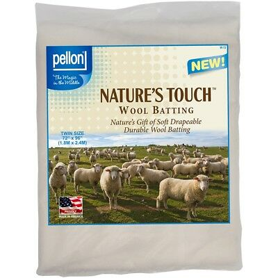 "Pellon Wool Batting-twin Size 72""x96"" Fob: Mi"