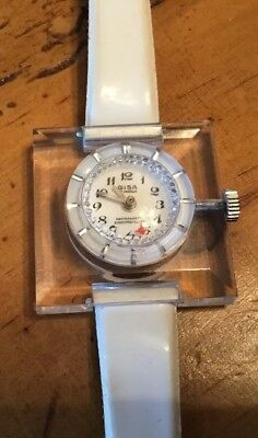Gish Lucite Acrylic Retro Mod Pop Space Age Ladies Watch Vintage