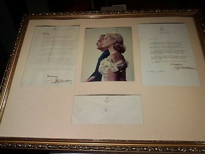Prince Rainier III and Grace Kelly of Monaco Signed Historical Letters  1967