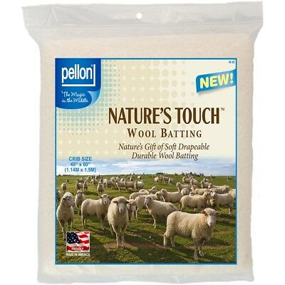 "Pellon Wool Batting-crib Size 45""x60"" Fob: Mi"