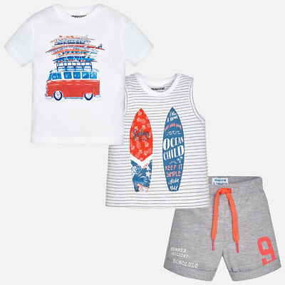 Mayoral Set of two T-shirts with shorts size 12 months code 1694-26