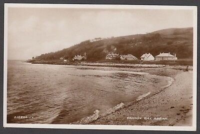 Postcard Sannox Bay on Isle of Arran Scotland early view showing houses RP
