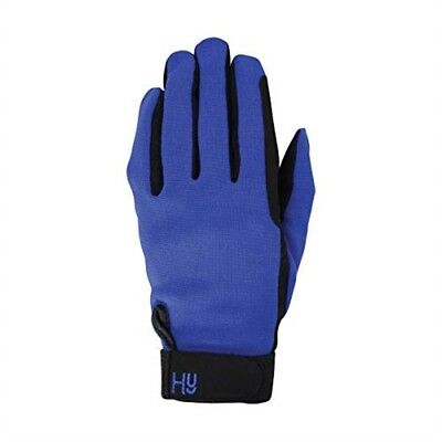 Hy5 Universal Two Toned Riding Gloves - Black/royal Blue - Large