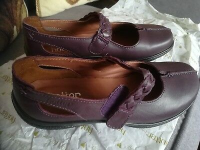 ladies hotter flat shoes size 4 - shake, colour burgundy, new, never worn