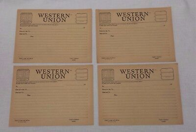 10 Late 1940's Western Union Telegram Message Blank Form 1207 J. Egan Pres.