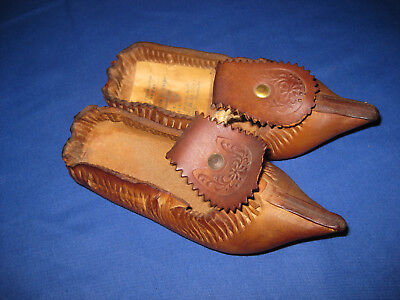 Unusaul Vintage 1970 Russian Genuine Leather Small Shoe / Slipper