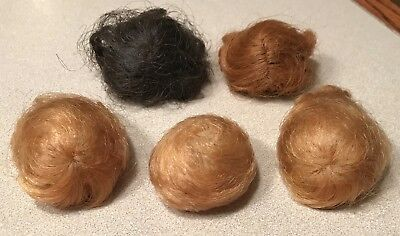 5 Vintage Original Barbie Size Wigs in Good Condition