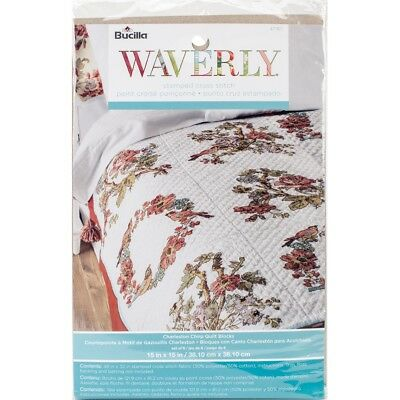 "Bucilla Gestempelt Stickerei Quilt Blöcke 15 ""x15"" 6 / Pkg-waverly-charleston"