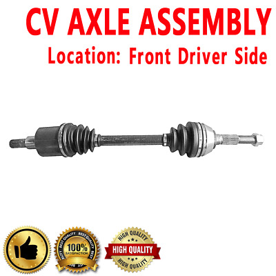 Detroit Axle 2 Front CV Axle Shaft Driver and Passenger Side for 2002 2003 2004 2005 2006 2007-2009 GMC Envoy XL XUV