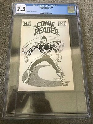 The Comic Reader 126 January 1976 Don Perlin MOON KNIGHT 3rd App Cover CGC 7.5
