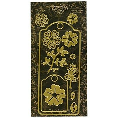 Graphic 45 Large Atc Tag And Flower Dies