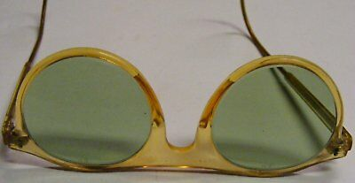 Vintage American Optical Ao Safety Goggles Green Glass Lens
