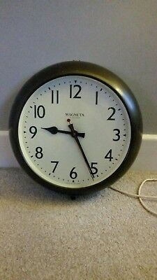 Antique Genuine Magneta Electric Wall Clock British Made Steampunk/retro/vintage