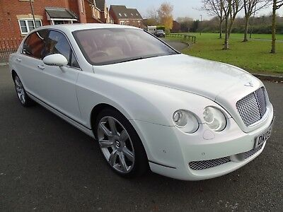 2005 Bentley Flying Spur 6.0 W12 Auto Pearlescent White Top Spec Stunning Look