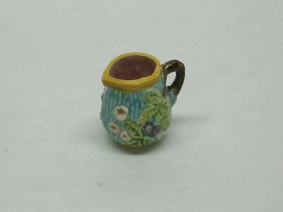 Dollhouse Miniature Artisan Signed Valerie Casson Blackberry Pitcher