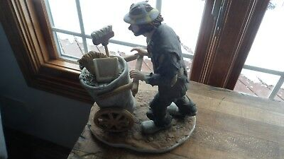 Limited Edition Signed Emmett Kelly Jr. Figurine After the Parade