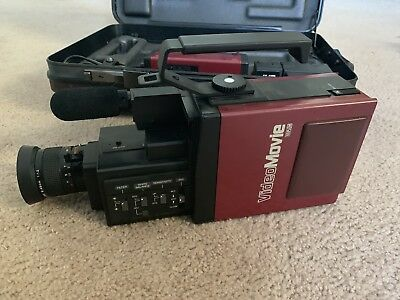 Vintage JVC GR-C1U - Back to the Future Stranger Things Camcorder, Case, Charger