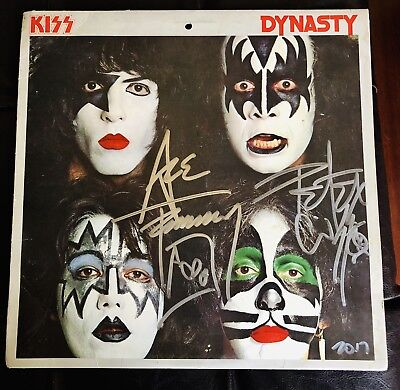 Kiss Dynasty Signed By Ace Frehley Peter Criss 1979 Aucoin Vintage