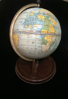 Lovely Vintage Chad Valley Terrestrial Tin Plate Globe 1948