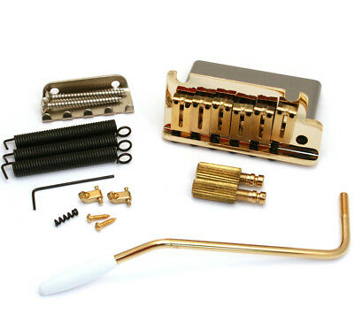 Genuine Fender AM SRS Stratocaster/Strat Guitar Tremolo Bridge Assembly - GOLD