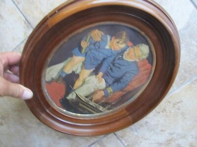 Very Large BEAUTIFUL 1850 Antique Antebellum Victorian Oval Walnut Picture Frame