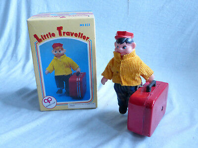Red China MS 823 Little Traveller Blech Spielzeug Tin Toy 80er Jahre in Box