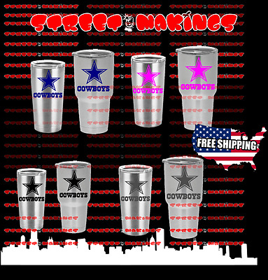 NFL DALLAS COWBOYS Decal for YETI CUP Tumbler  20 AND 30 Ozark Trail football DC