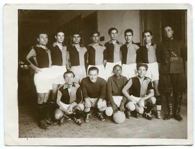 Soccer Team, Turkey, c1930s Vintage Photo Army Officer; Mixed Race