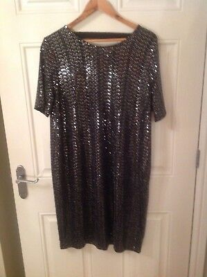 Next Ladies Silver Sequinned Maternity Christmas Party Dress Size 10 Bnwt's